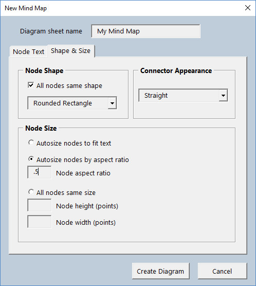 Diagram Master - New Mind Map Shape and Size