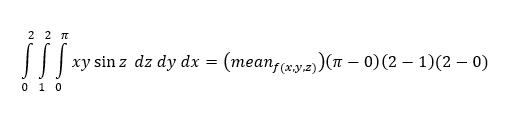 Triple integral solution formula