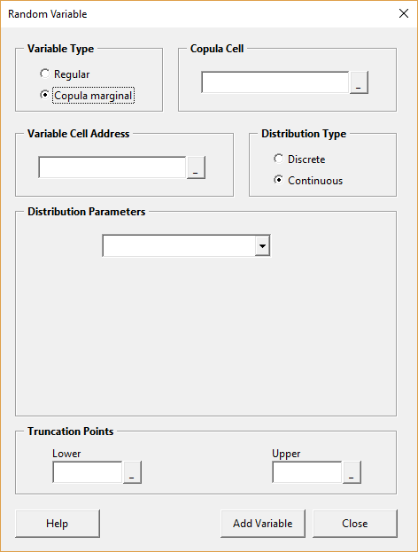Random variable form - blank
