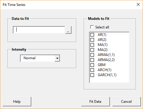 Fit time series form - blank