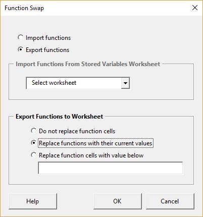 Function swap form - export