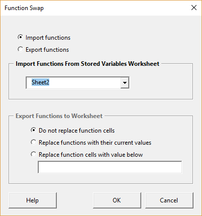 Function swap form - import