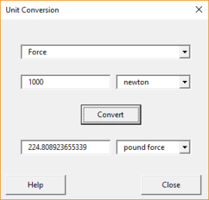Unit conversion tool