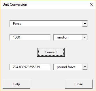 Unit conversion tool