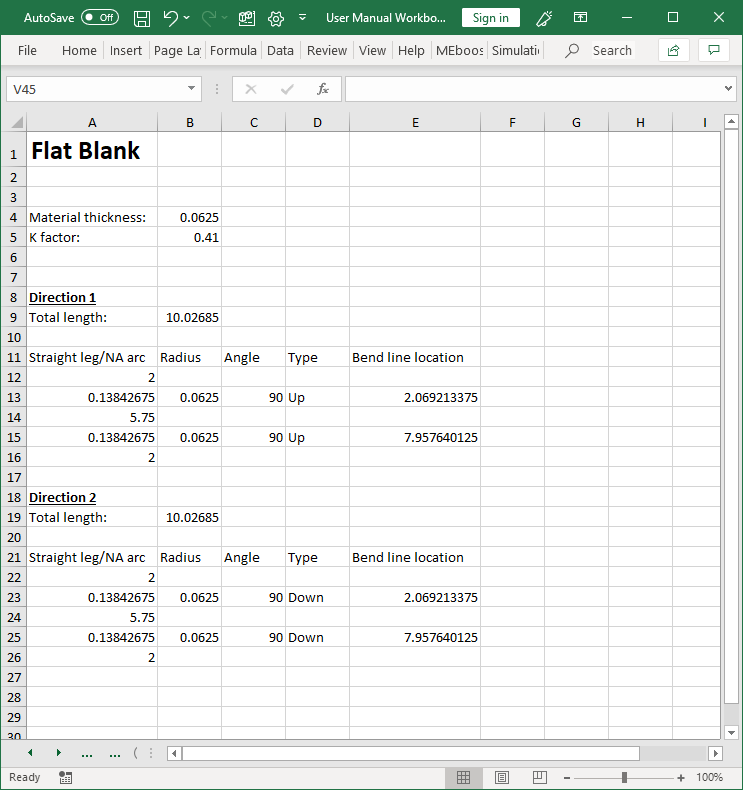 Flat blank report
