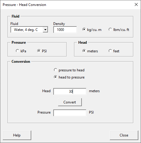 Populated pressure-head form