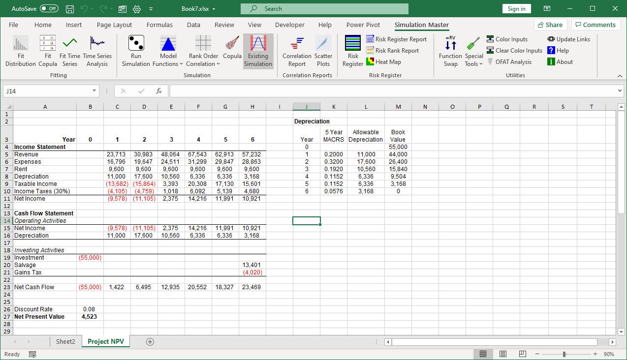 Analyze existing data set button