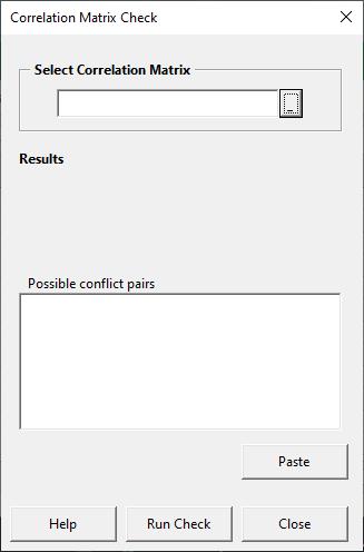 Blank matrix check form