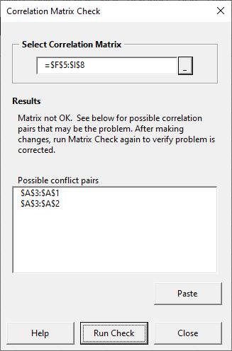 Matrix check form - not OK
