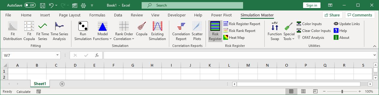 Risk register button