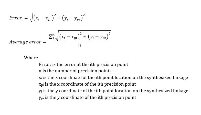 Path error formulas